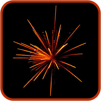 Firework graphic.